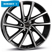 Borbet V black polished glossy