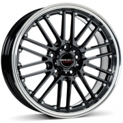 Borbet CW2 black rim polished