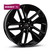 Borbet TX black rim polished glossy